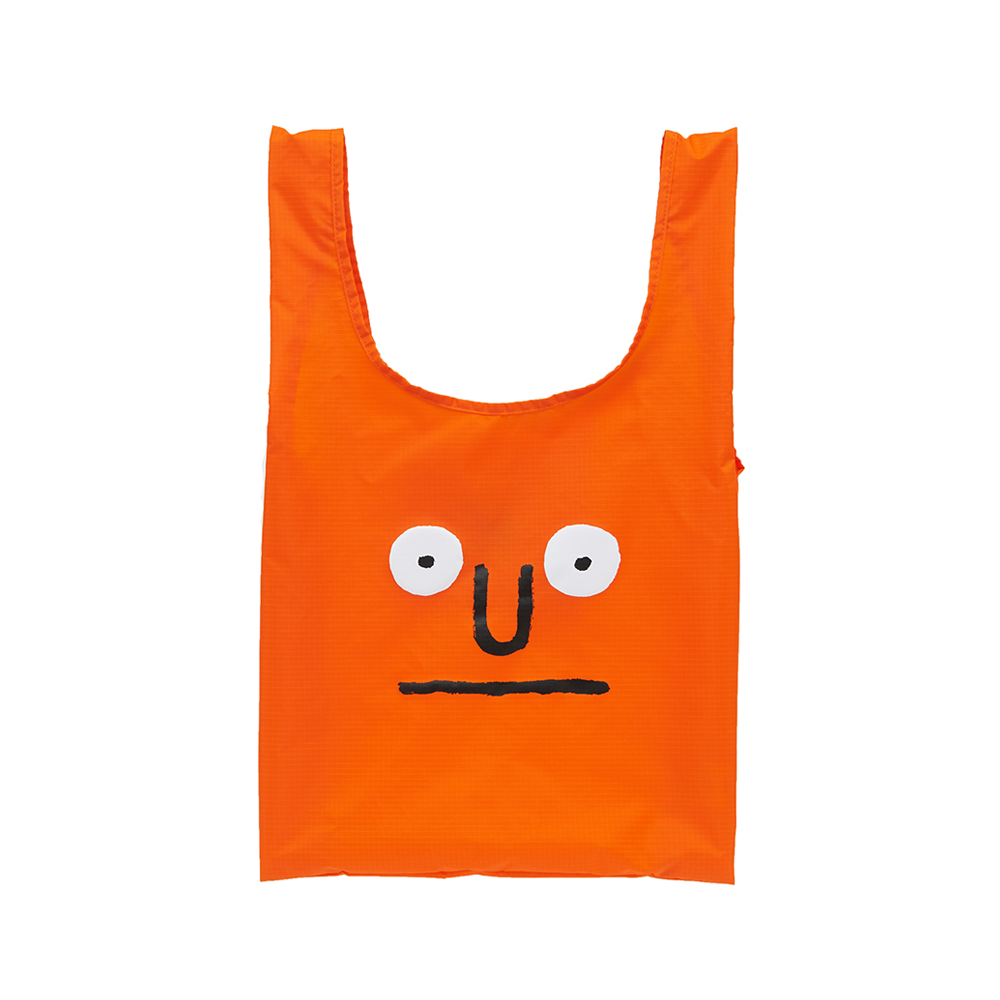[NOUNOU S1] Face Market Bag(Orange) 스테레오 바이널즈