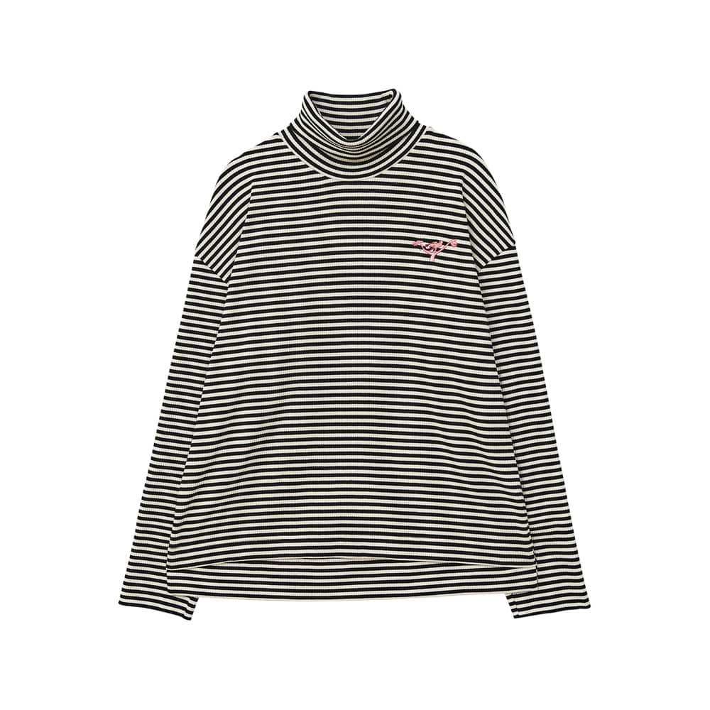 [AW17 Pink Panther] Stripe Turtleneck Long Sleeve(Black) 스테레오 바이널즈