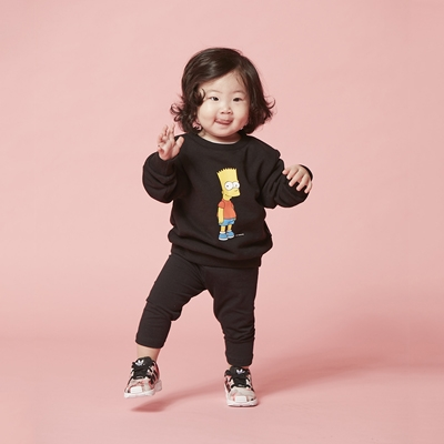 [AW15 The Simpsons]  Bart Sweatshirt For Kids (Black) 스테레오 바이널즈