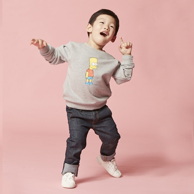 [AW15 The Simpsons]  Bart Sweatshirt For Kids (Grey) 스테레오 바이널즈