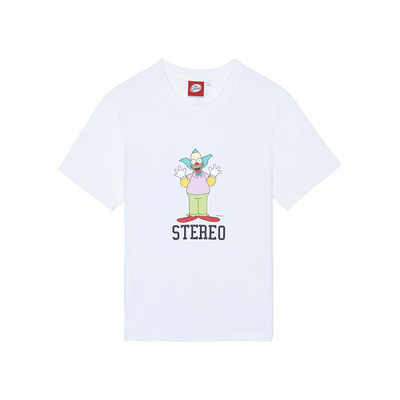 [SS16 Simpsons] Hi Krusty S/S Tee(WHITE) 스테레오 바이널즈