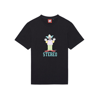 [SS16 Simpsons] Hi Krusty S/S Tee(BLACK) 스테레오 바이널즈
