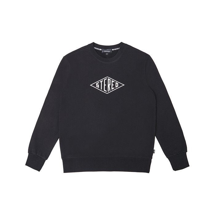 [PSLN] Diamond Logo Sweatshirt (Black) 스테레오 바이널즈