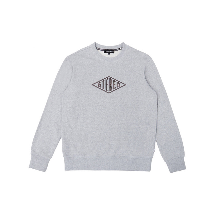 [PSLN] Diamond Logo Sweatshirt (Grey) 스테레오 바이널즈