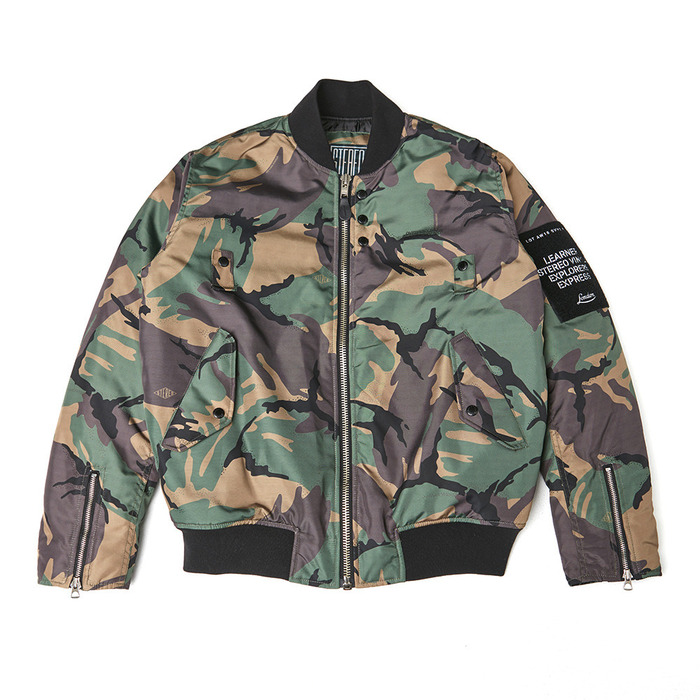 [PSLN] London Bomber Jacket (Camo) 스테레오 바이널즈