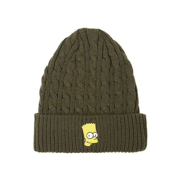 [AW15 The Simpsons] Bart Beanie (Green) 스테레오 바이널즈