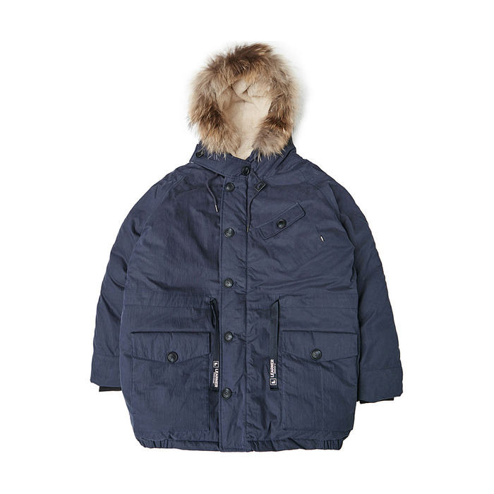 [PSLN] Polar Parka Down Jacket (Navy) 스테레오 바이널즈