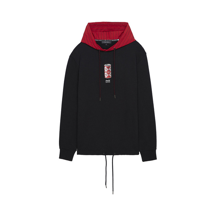 [CCC] Woven Hoodie Pullover(BLACK)