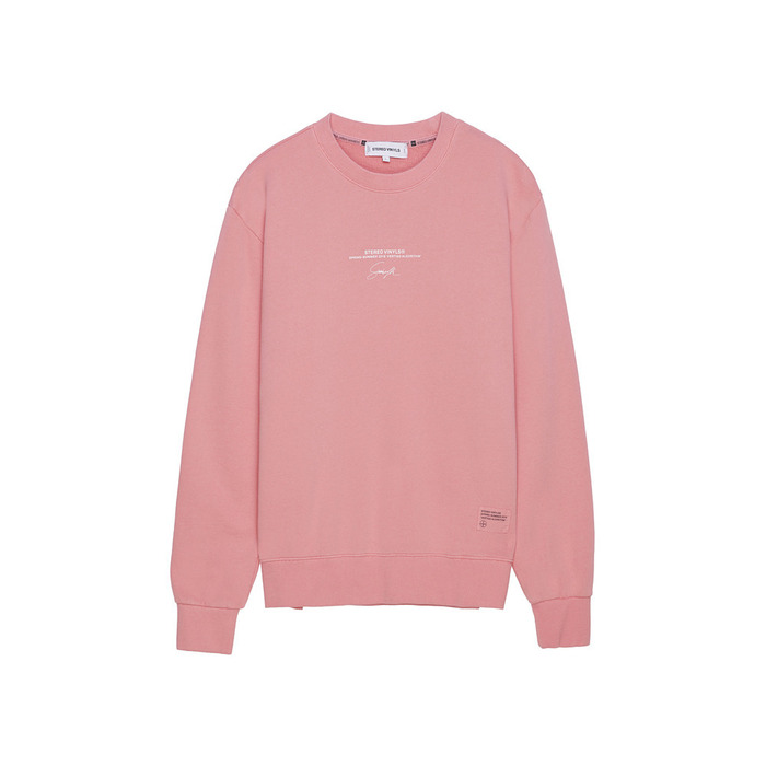 [AG] Handwriting Stereo Sweatshirt(PINK) 스테레오 바이널즈