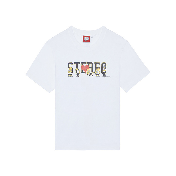 [SS16 Simpsons] Simpsons Friends Stereo S/S Tee(WHITE) 스테레오 바이널즈