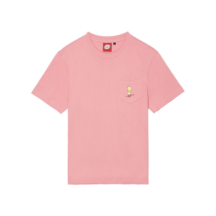 [SS16 Simpsons] Duff Beer Pocket S/S Tee(PINK) 스테레오 바이널즈