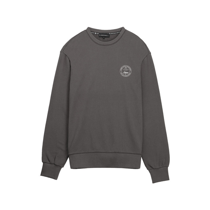 [AW16 Music] Logo Sweatshirts(Charcoal) 스테레오 바이널즈