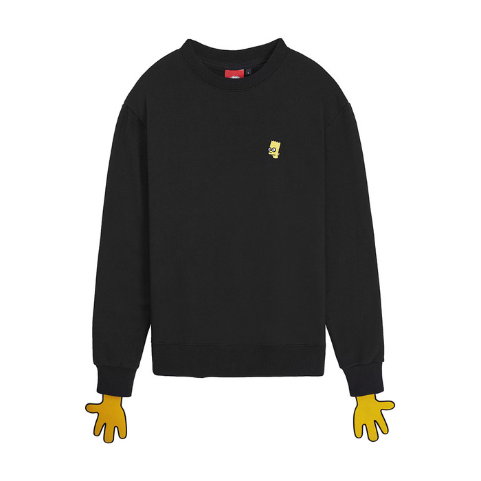 [AW16 JJ x SV] Bart Fleece Sweatshirt(Black) 스테레오 바이널즈
