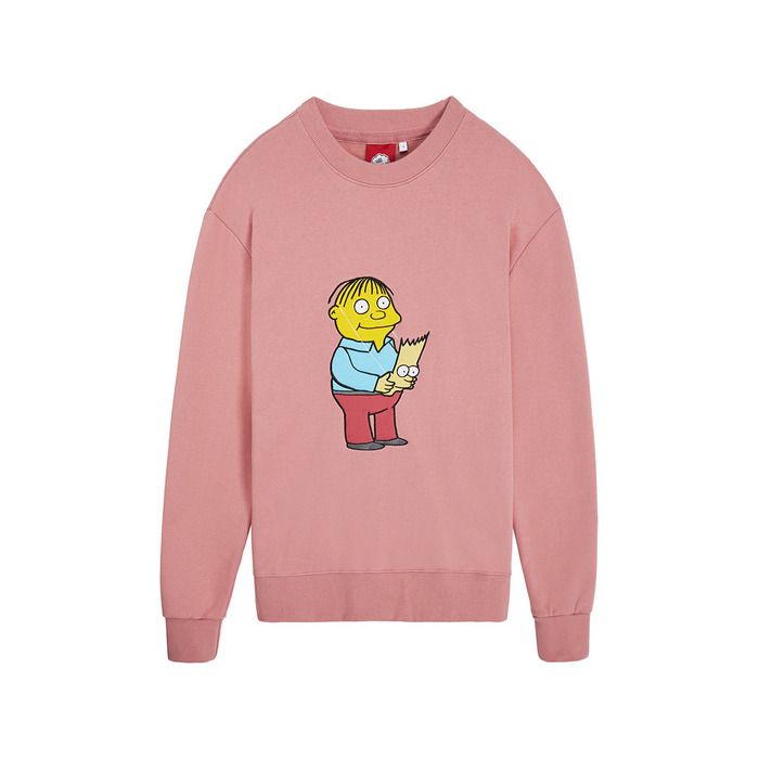 [AW16 JJ x SV] Mask Fleece Sweatshirt(Pink) 스테레오 바이널즈