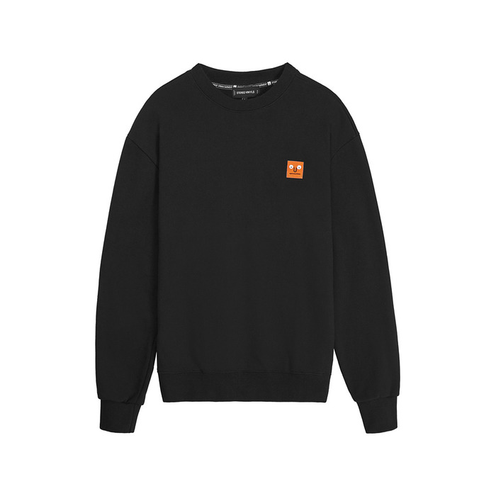 [AW16 JJ x SV] One Point Fleece Sweatshirt(Black) 스테레오 바이널즈