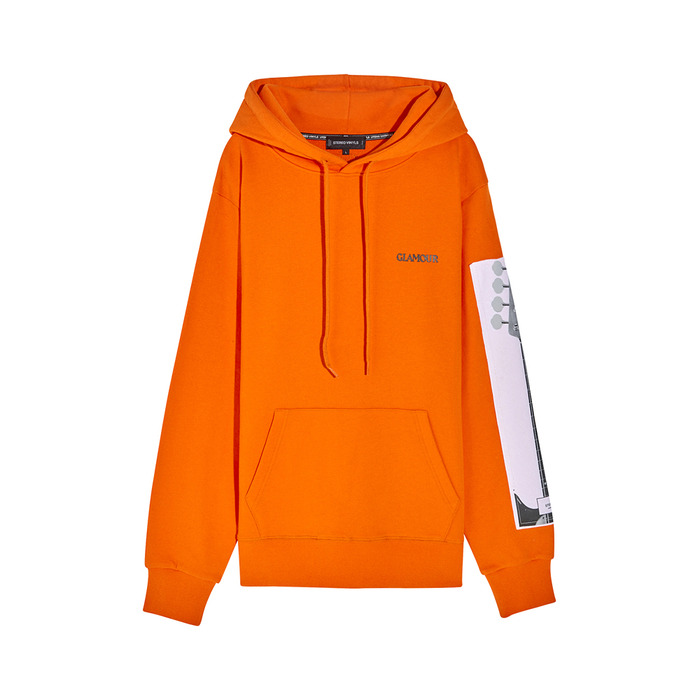 [SS17 Colour] Base Guitar Hoodie(Orange) 스테레오 바이널즈
