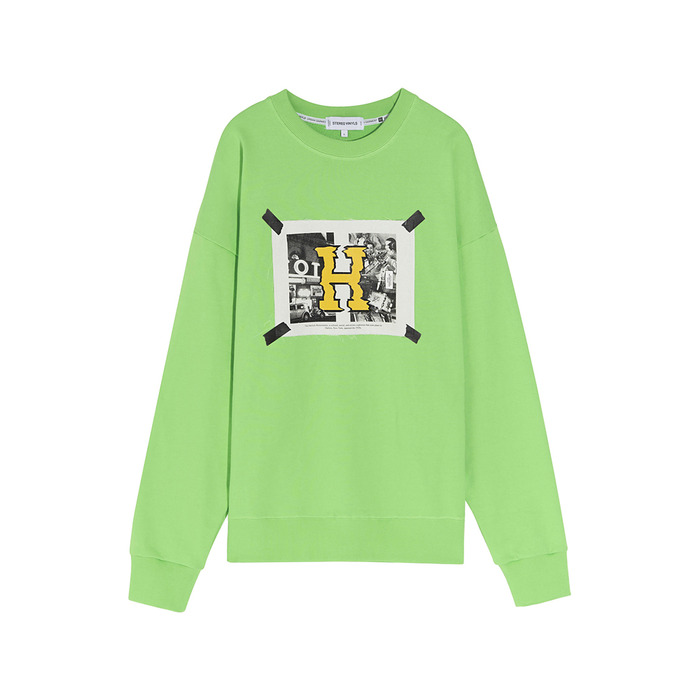 [SS17 Colour] H Sweatshirt(Green) 스테레오 바이널즈