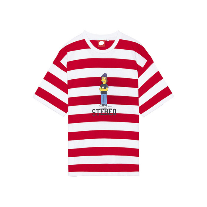 [SS16 Simpsons] Summer Striped S/S Tee(RED) 스테레오 바이널즈
