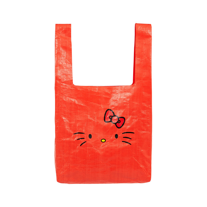[Hello Kitty] Kitty Face Market Bag(Orange) 스테레오 바이널즈