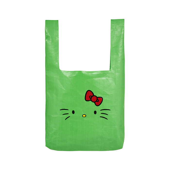 [Hello Kitty] Kitty Face Market Bag(Green) 스테레오 바이널즈
