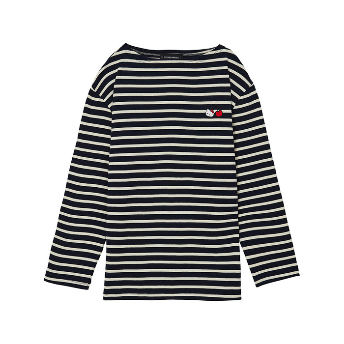 [Hello Kitty] Stripe Long Sleeve(Navy) 스테레오 바이널즈