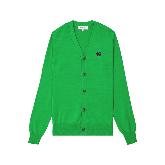 [Hello Kitty] V-Neck Cardigan(Green) 스테레오 바이널즈