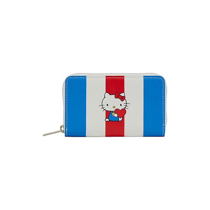 [Hello Kitty] Stripe Cowhide Leather Wallet(Red) 스테레오 바이널즈
