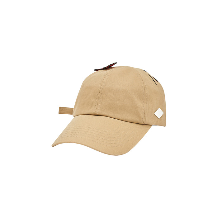 [Hello Kitty] Face 6P Cap(Beige) 스테레오 바이널즈
