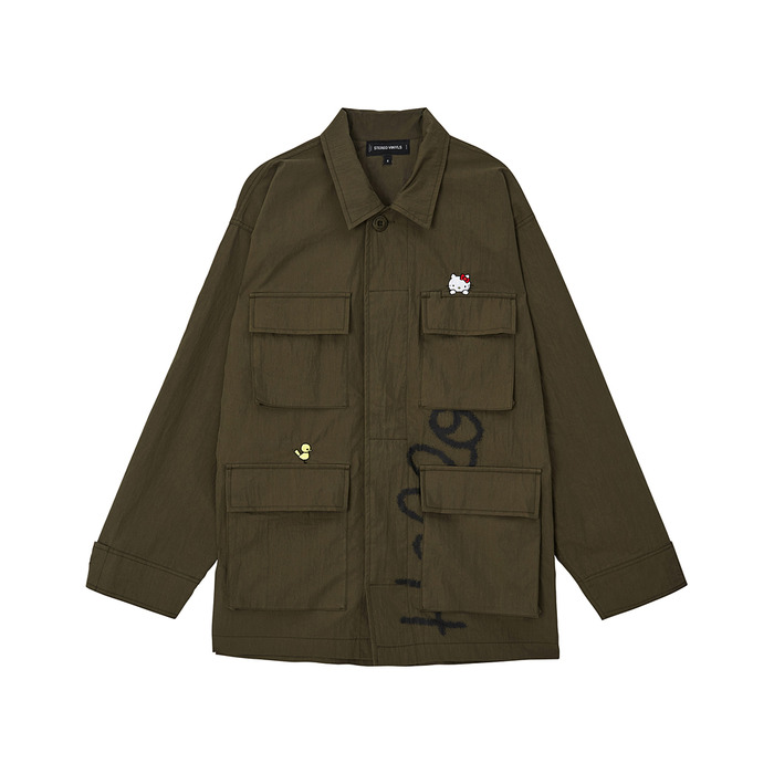 [Hello Kitty] BDU Jacket(Khaki) 스테레오 바이널즈