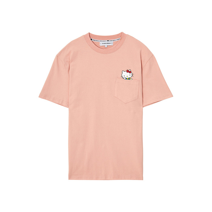 [Hello Kitty] Kitty Pocket S/S T-shirts(Pink) 스테레오 바이널즈