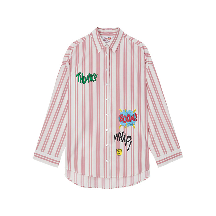 [Pink Panther] Stripe Shirt(Pink) 스테레오 바이널즈