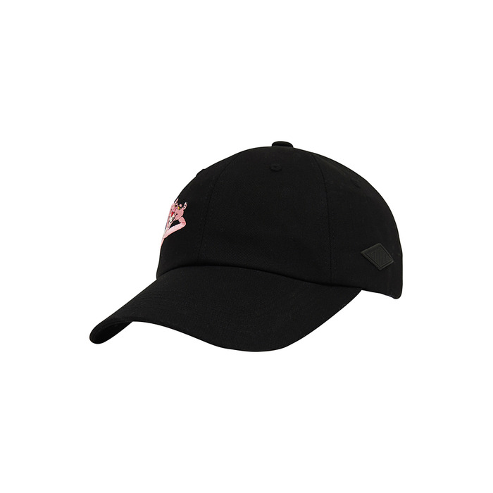 [Pink Panther] Side Print 6P Cap(Black) 스테레오 바이널즈