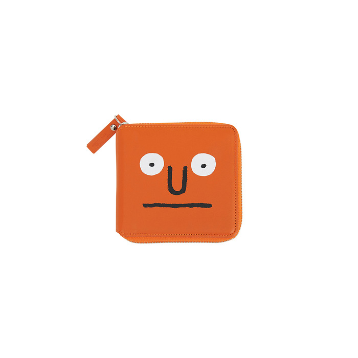[NOUNOU S1] Face Wallet(Orange) 스테레오 바이널즈