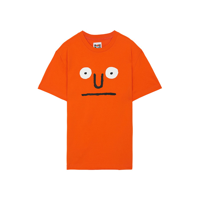 [NOUNOU S1] Face S1 T-Shirts(Orange) 스테레오 바이널즈