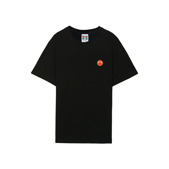 [NOUNOU S1] One Point T-Shirts(Black) 스테레오 바이널즈