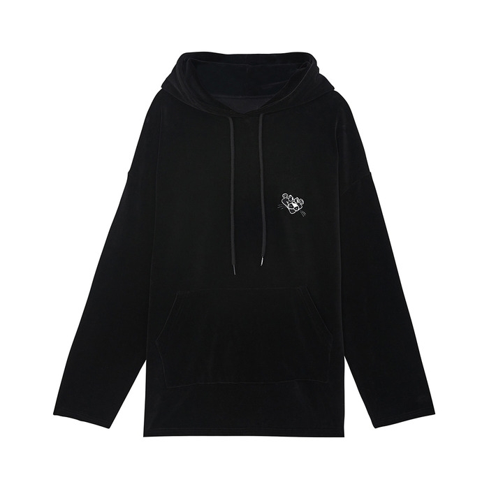 [AW17 Pink Panther] Velour Hoody(Black) 스테레오 바이널즈