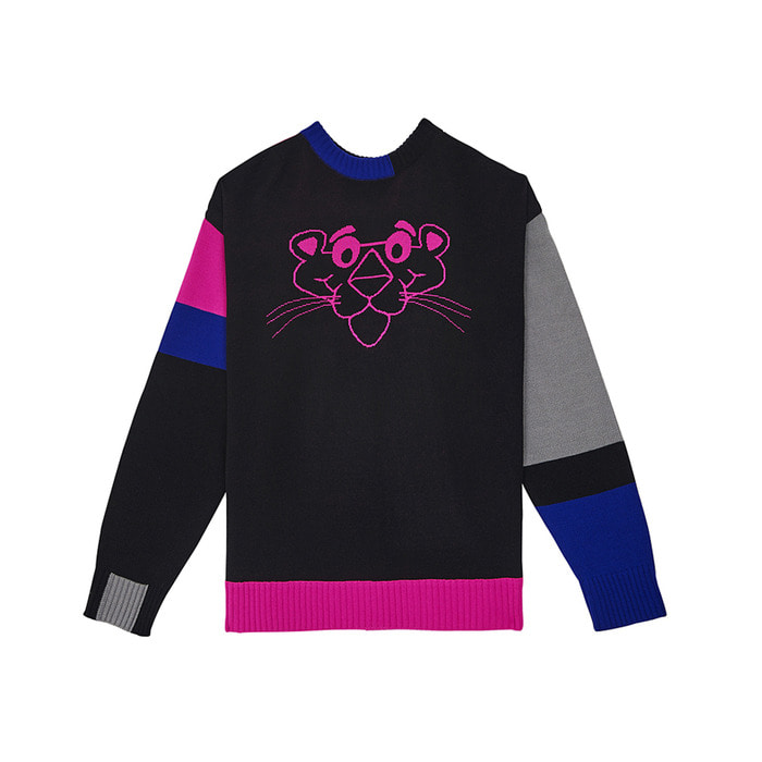 [AW17 Pink Panther] Color Block Knit(Black) 스테레오 바이널즈