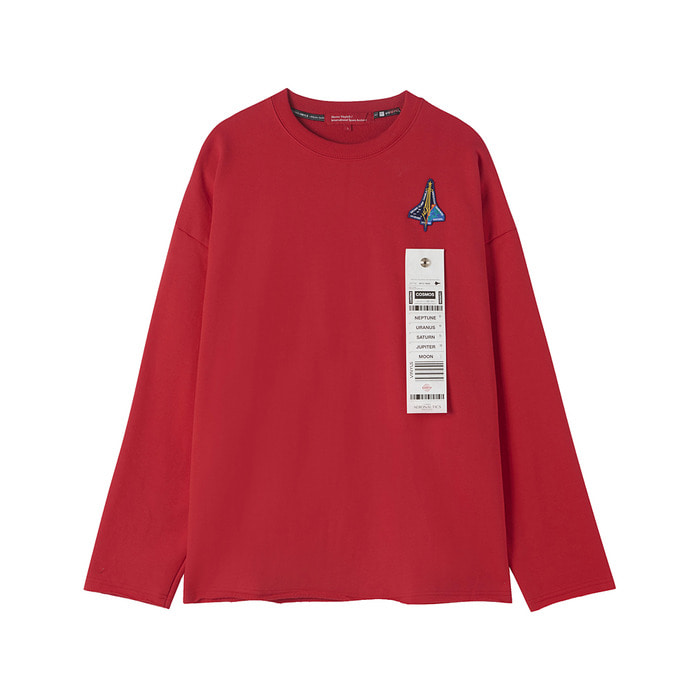 [AW17 ISA] Spaceshuttle Sweatshirt(Red) 스테레오 바이널즈