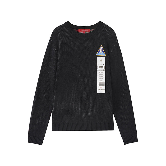[AW17 ISA] Spaceshuttle Knit(Black) 스테레오 바이널즈