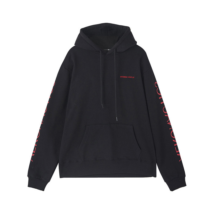 [AW17 ISA] Planet Fleece Hoody(Black) 스테레오 바이널즈