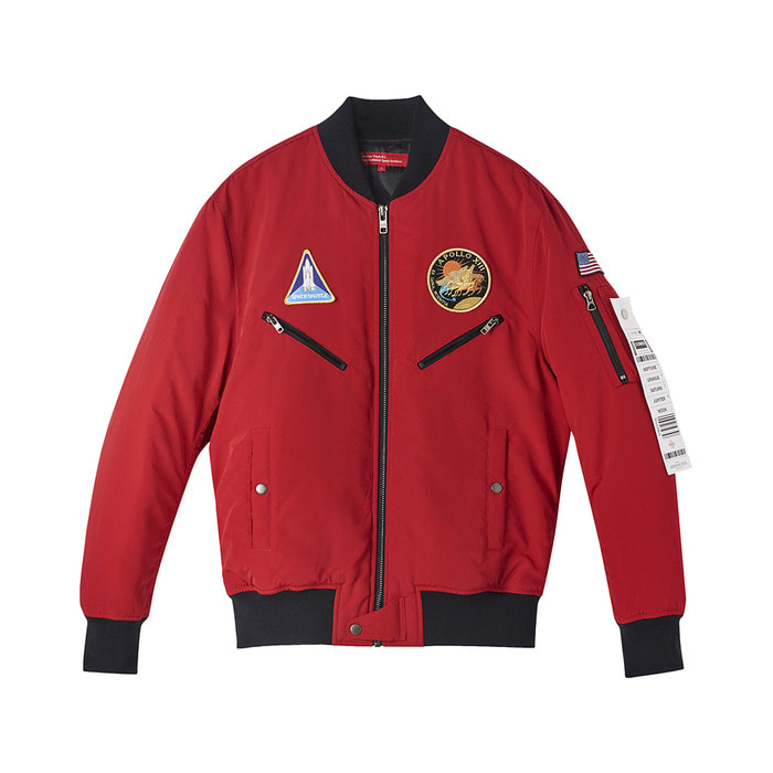 [AW17 ISA] MA-1 Bomber Jacket(Red) 스테레오 바이널즈