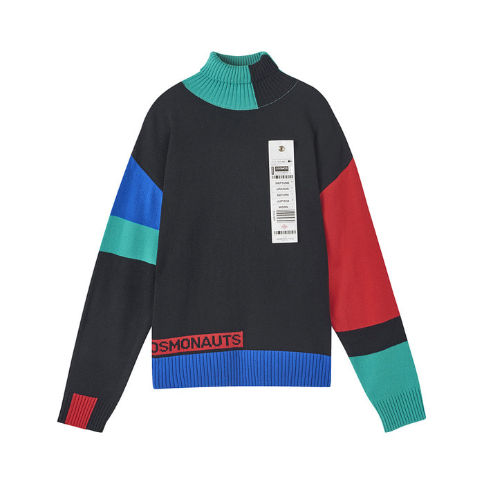 [AW17 ISA] Colorblock Turtleneck Knit(Black) 스테레오 바이널즈