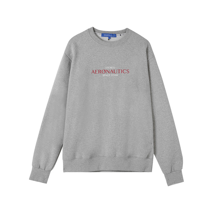 [AW17 ISA] Aeronautics Fleece Sweatshirt(Melange Grey) 스테레오 바이널즈