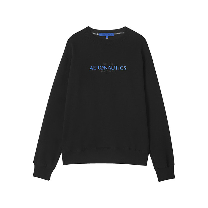 [AW17 ISA] Aeronautics Fleece Sweatshirt(Black) 스테레오 바이널즈