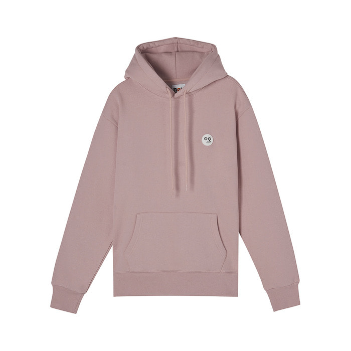 [AW17 NOUNOU] One Point Fleece Hoody(Pink) 스테레오 바이널즈