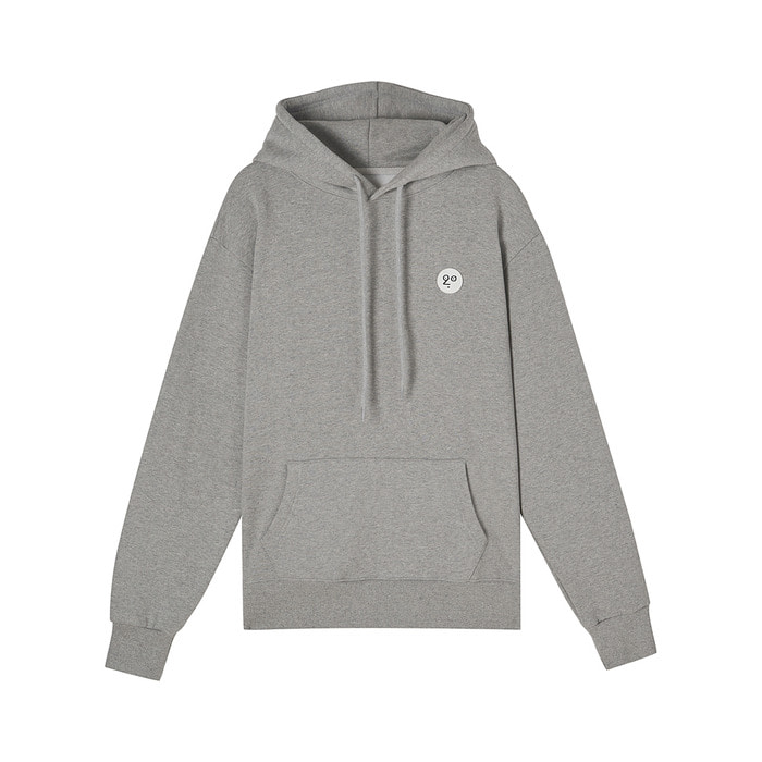[AW17 NOUNOU] One Point Fleece Hoody(Melange Grey) 스테레오 바이널즈