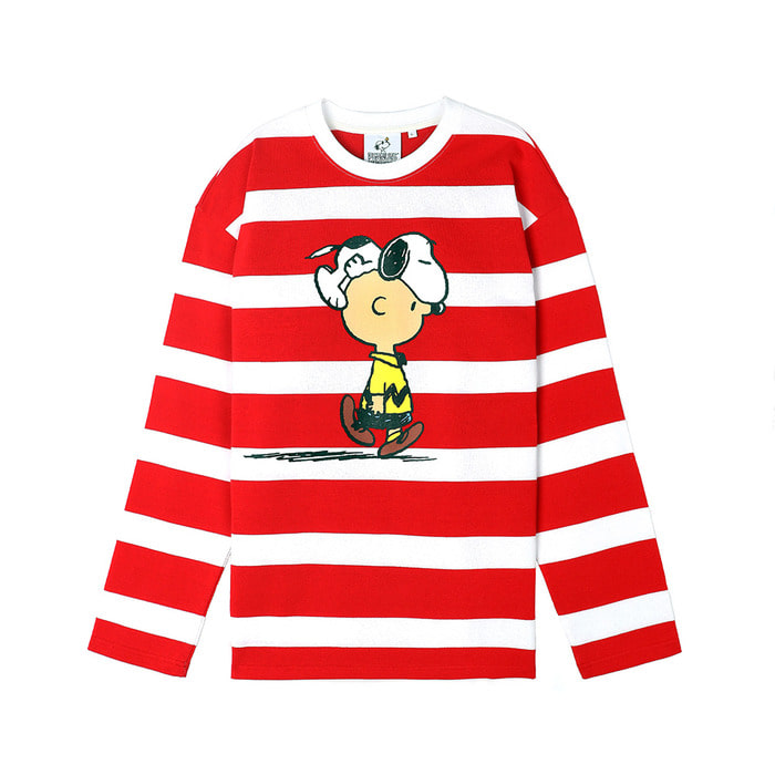 [SS18 Peanuts] Stripe Long Sleeve(Red) 스테레오 바이널즈