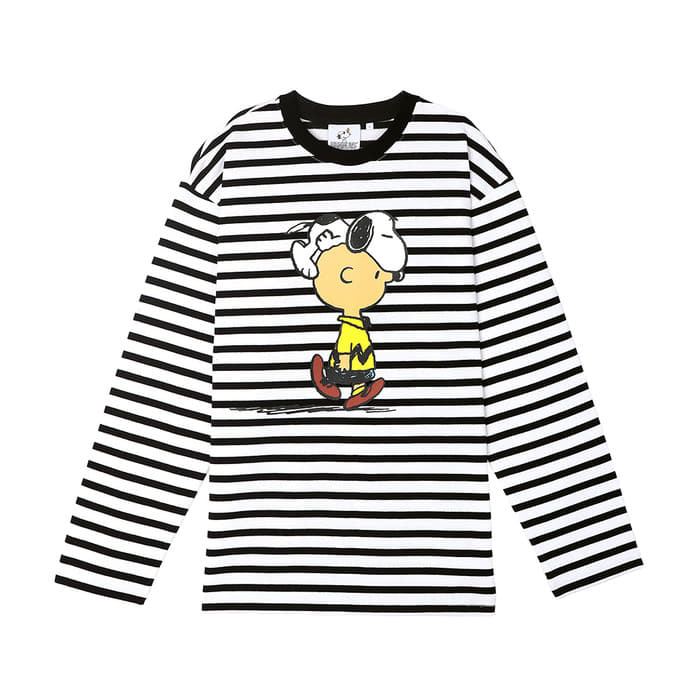 [SS18 Peanuts] Stripe Long Sleeve(White) 스테레오 바이널즈