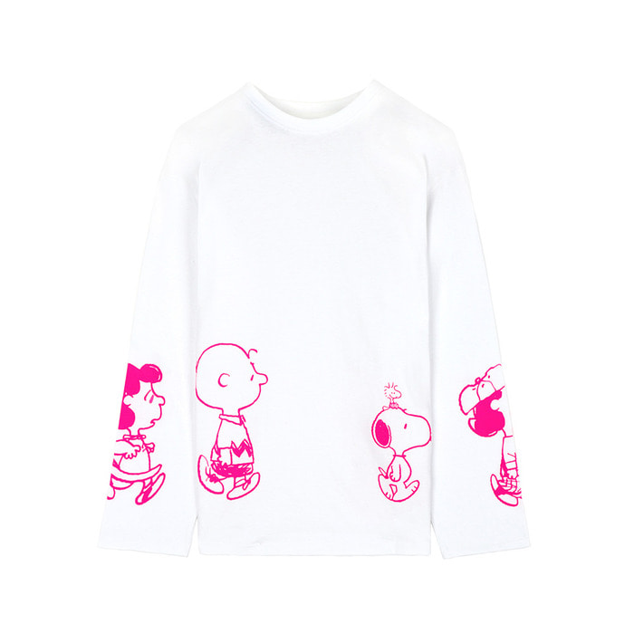 [SS18 Peanuts] Friends Long Sleeve(White) 스테레오 바이널즈