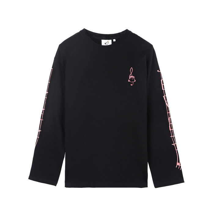 [SS18 Peanuts] Clef Long Sleeve(Black) 스테레오 바이널즈